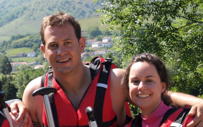 groupe rafting au pays basque a bidarray